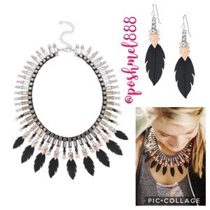 ::S&D✨SET💫 Raven Statement Necklace and Earrings